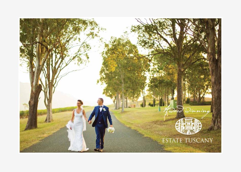 estate tuscany weddings brochure