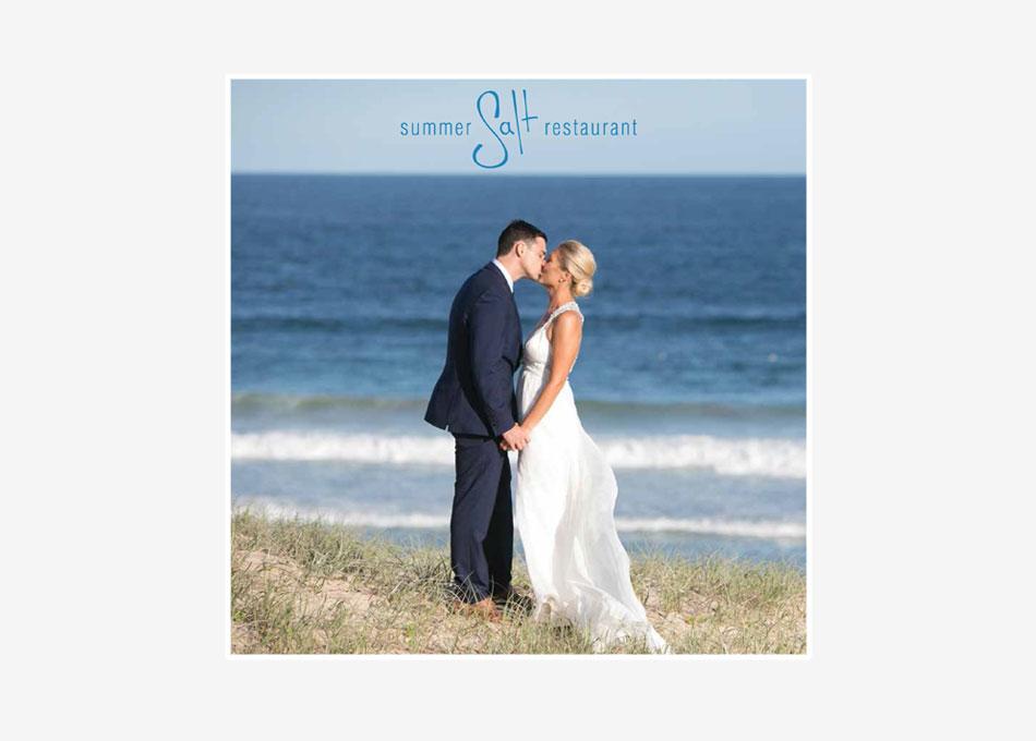 summer salt restaurant weddings brochure