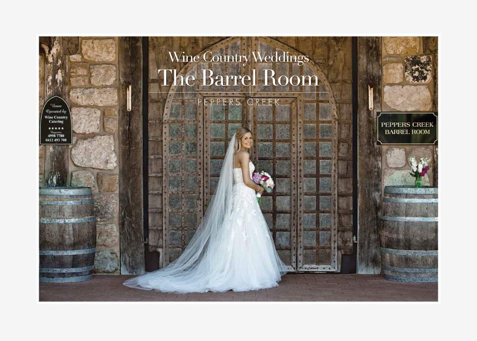 the barrel room weddings brochure